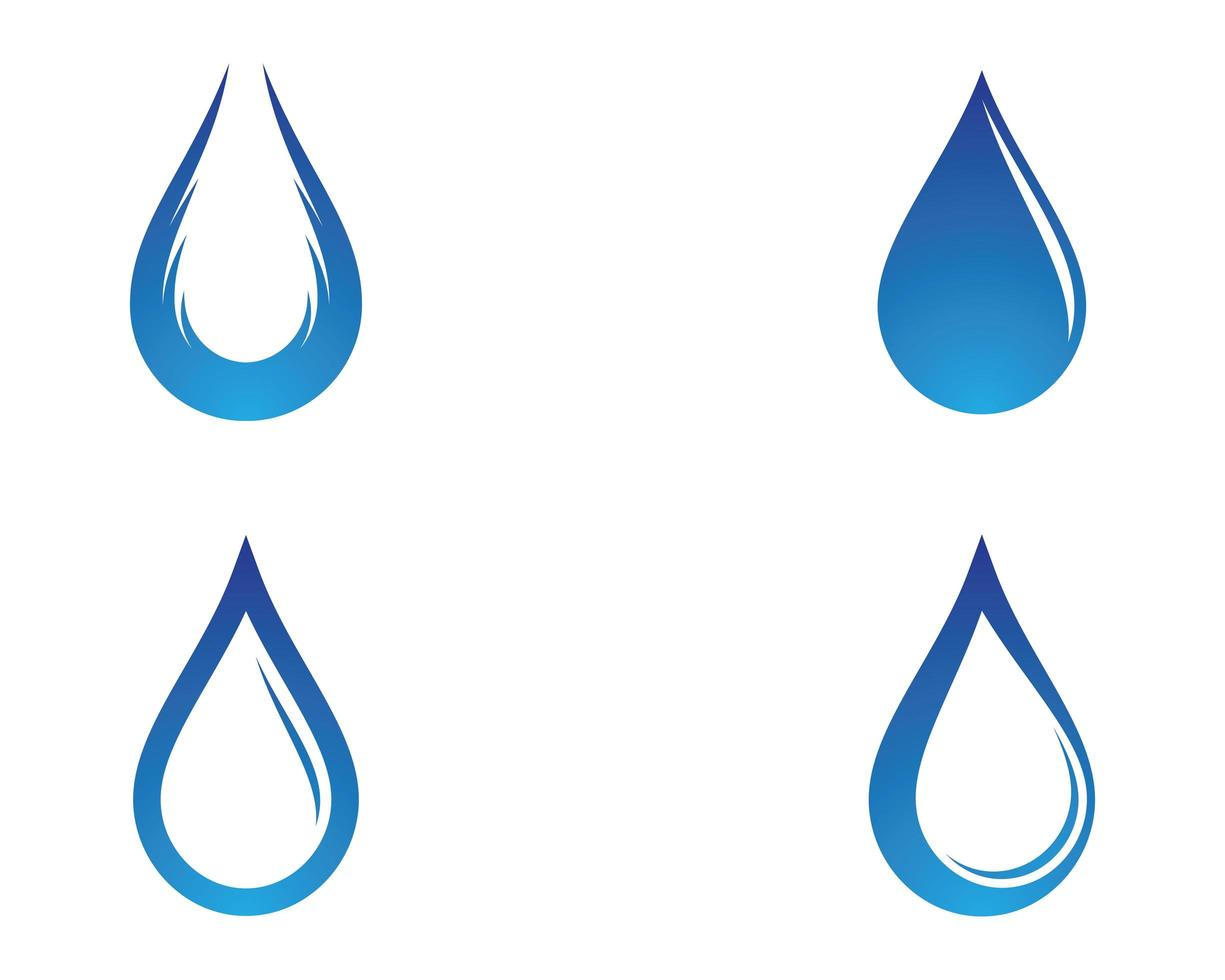 blå vattendroppe ikoner vektor
