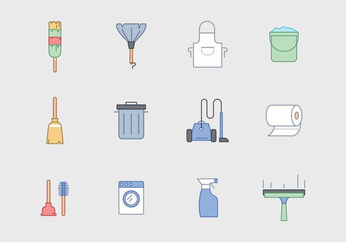 Kostenlose Reinigung Ausrüstung Vektor