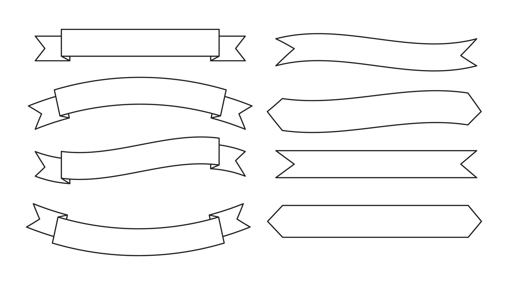 Umrissband-Bannersatz vektor