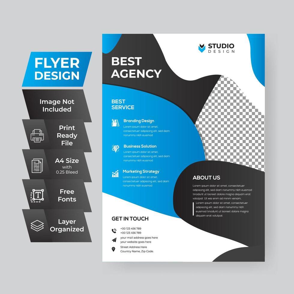Cyan Corporate Flyer vektor