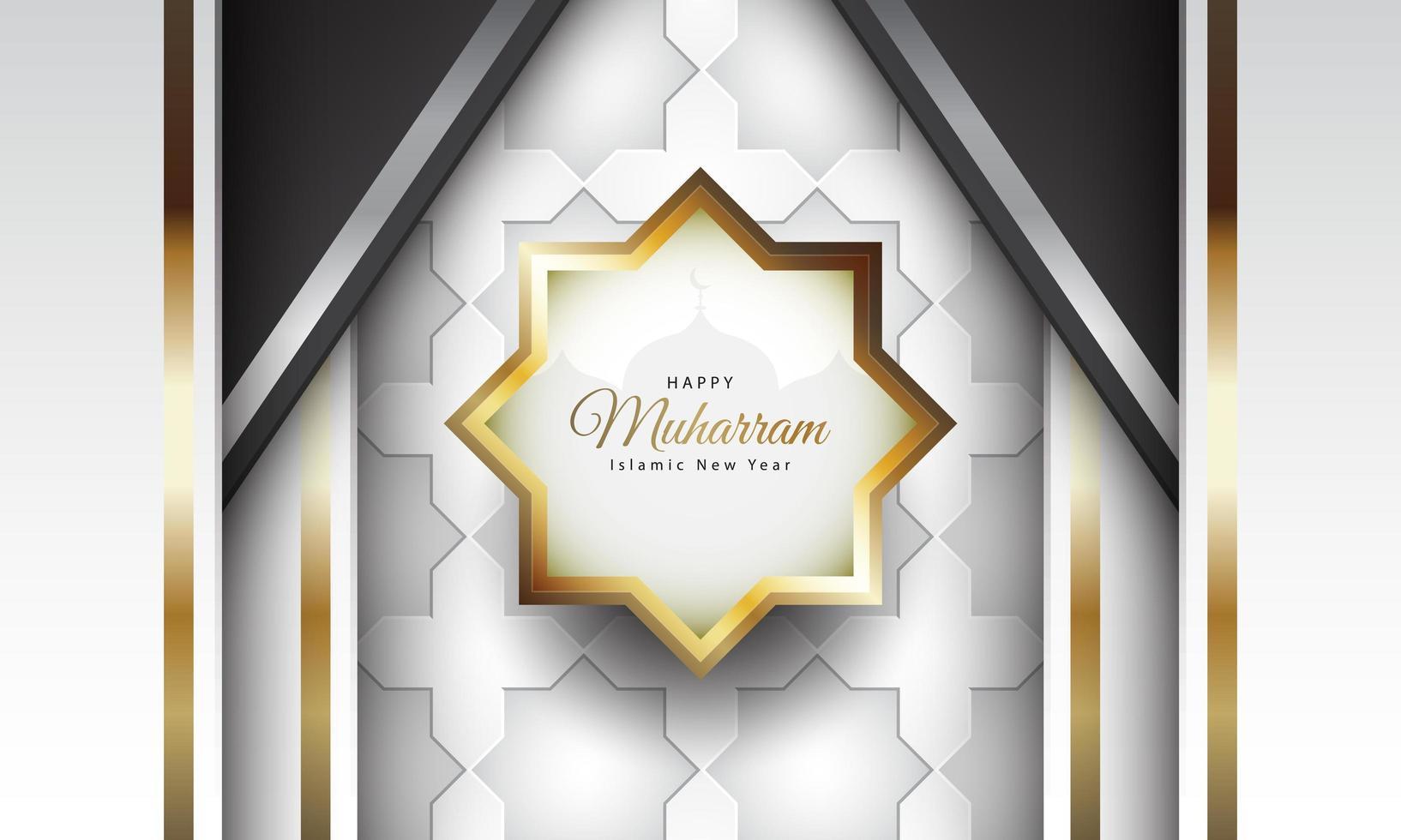 islamisches Neujahrsdesign mit Luxusstil vektor