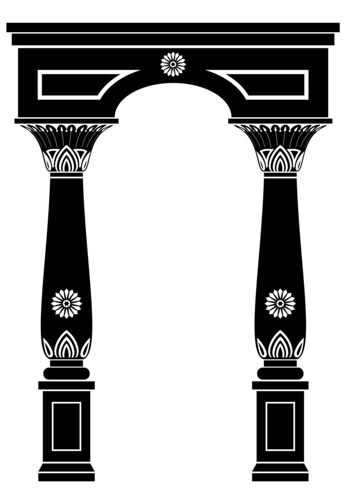 båge i forntida egyptisk stil vektor