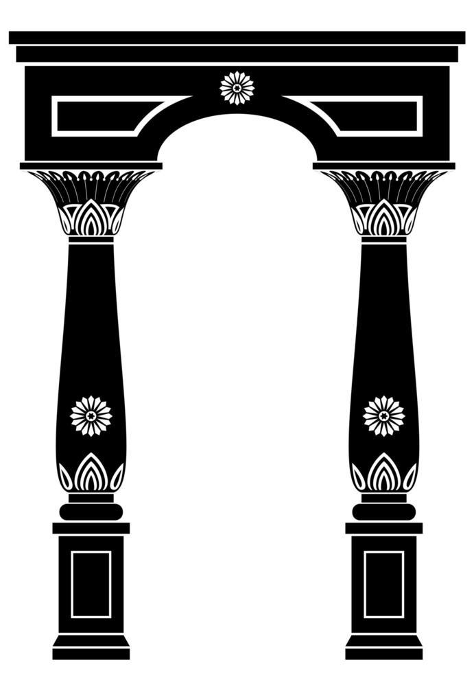 Bogen im alten ägyptischen Stil vektor