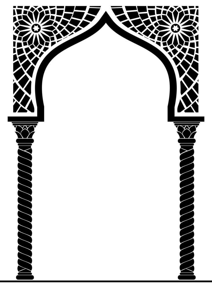 arabisk eller östlig arkitektonisk båge vektor