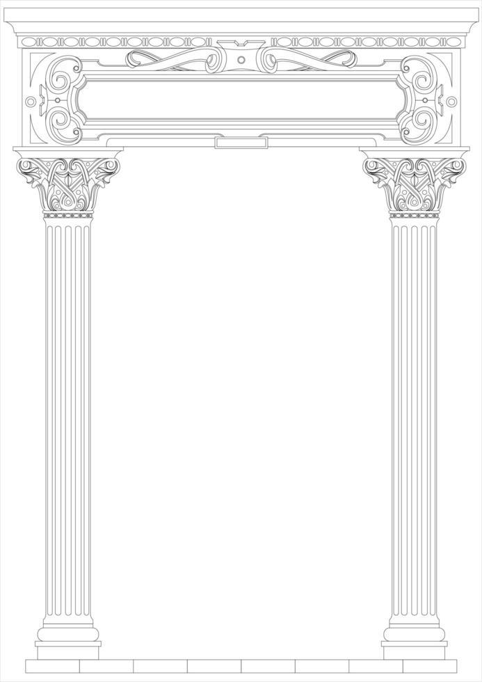 Umrissstil klassischer Bogen vektor