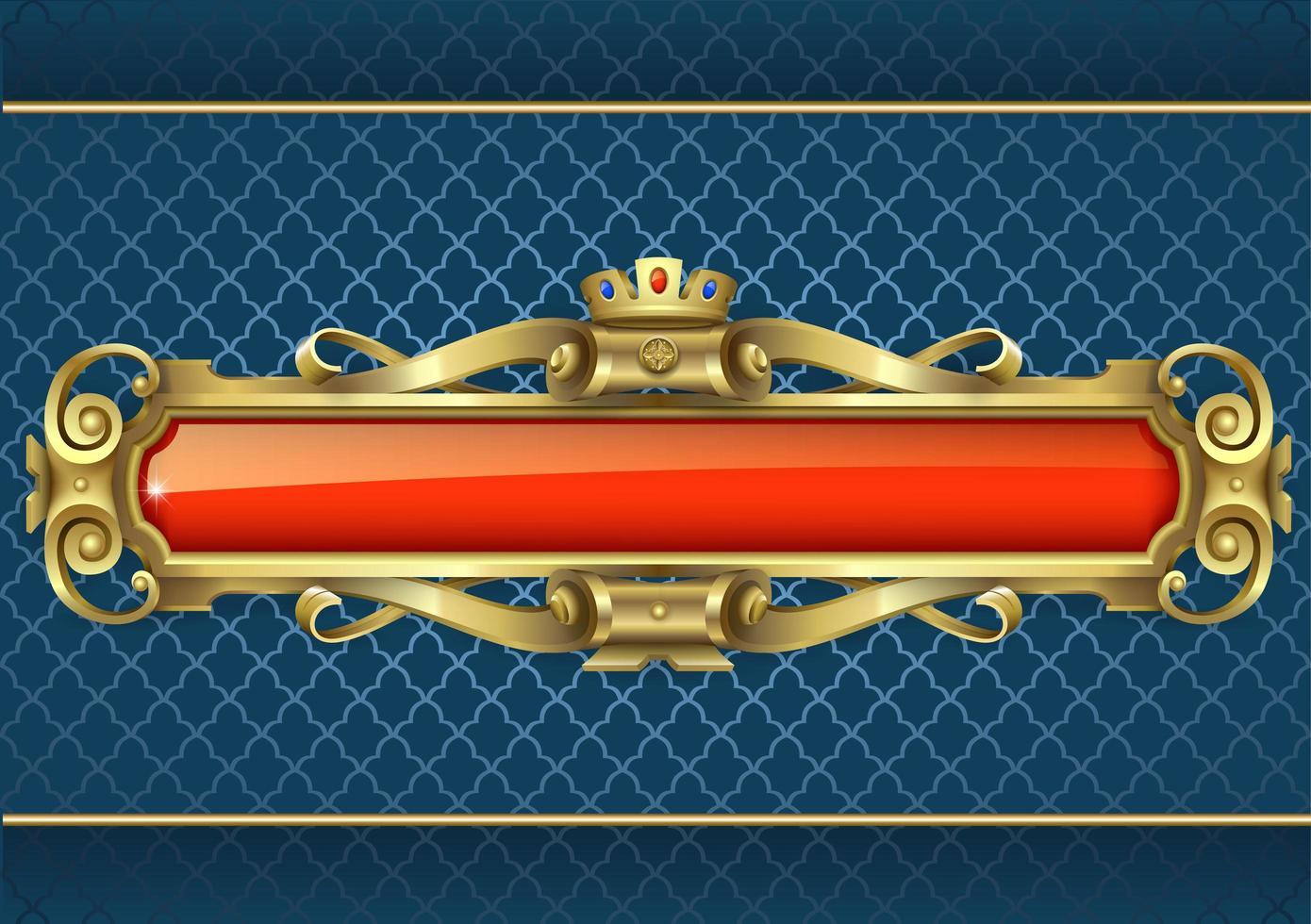 klassisches goldenes und rotes Banner vektor