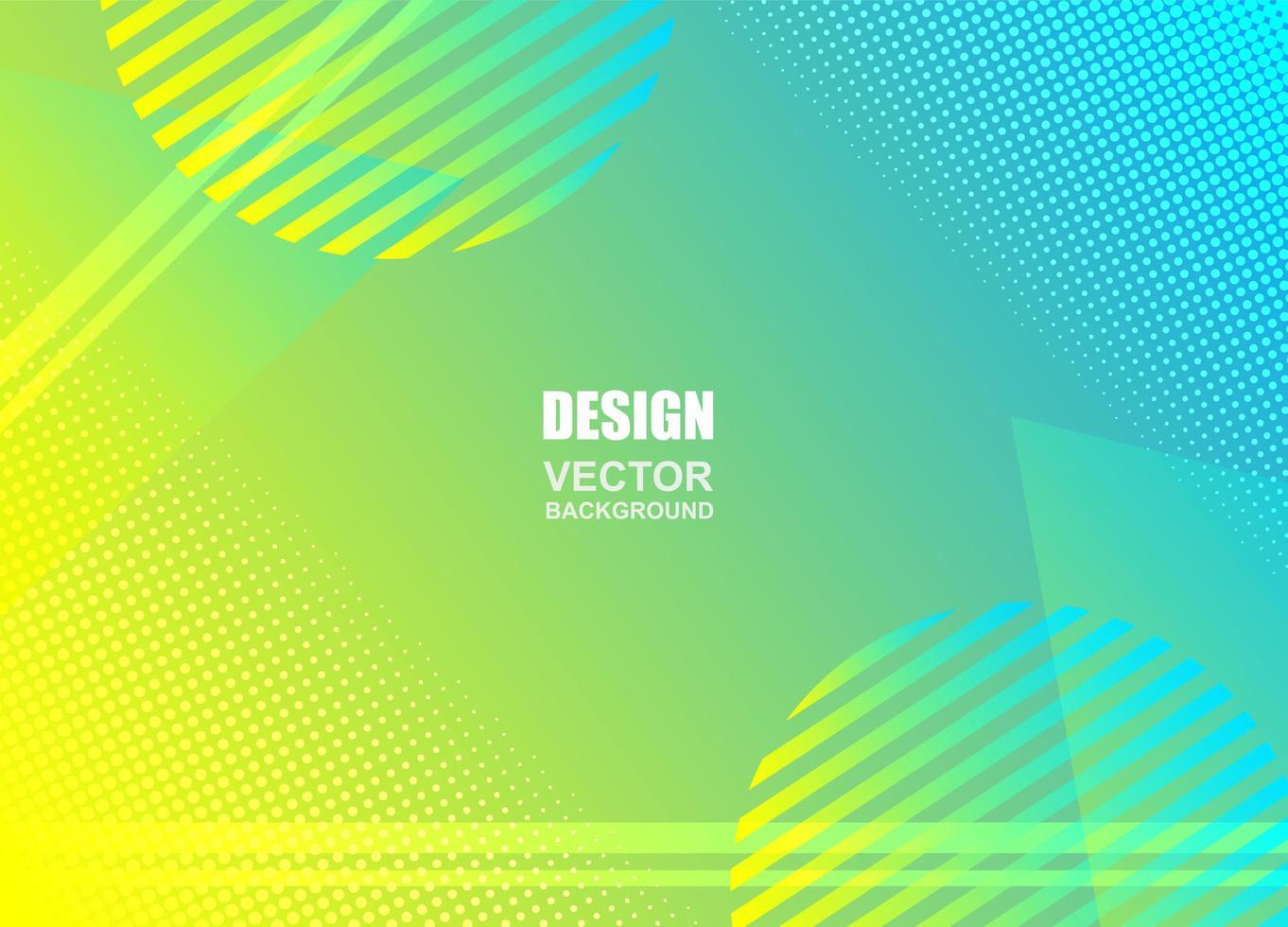 geometrisches Design des blauen gelben Farbverlaufs vektor