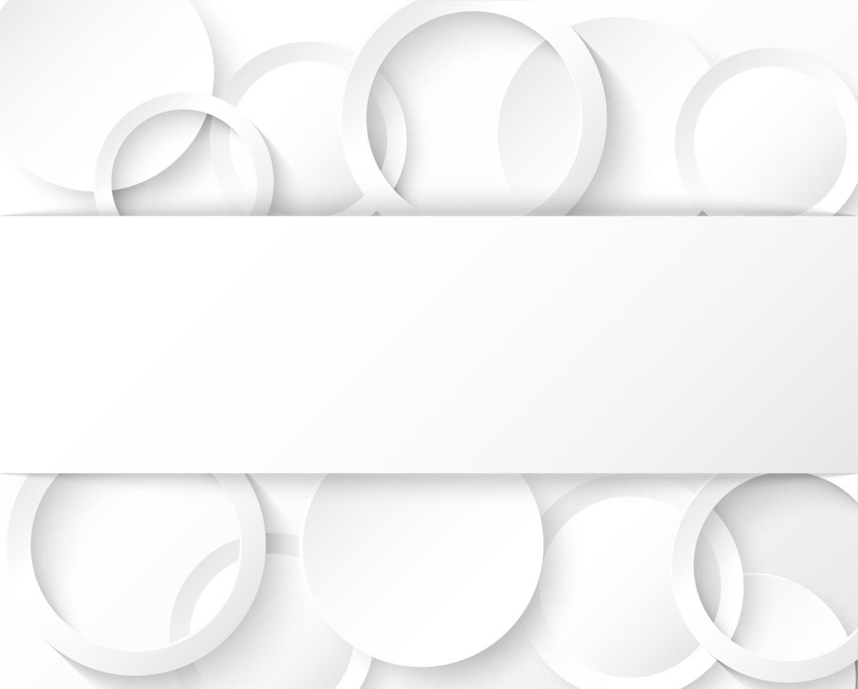 abstrakt ljus och skugga cirkel mönster med banner vektor