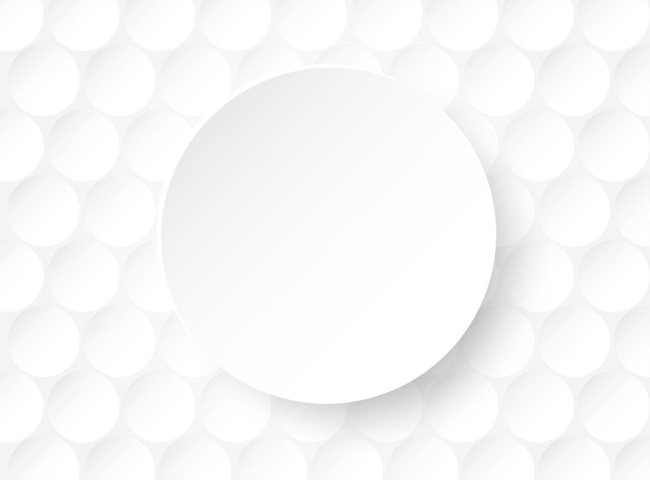 vit cirkel design med ljus och skugga vektor