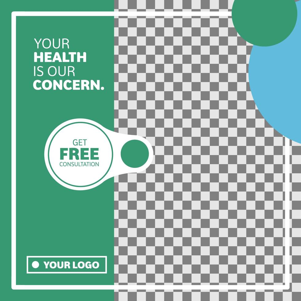 Medical und Gesundheit Kreis Design Social Media Banner vektor