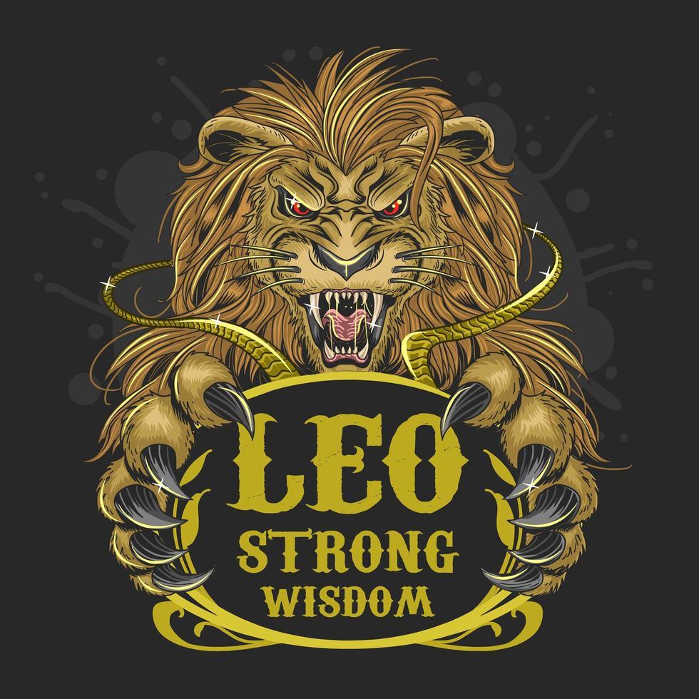 Leo Löwe Sternzeichen Design vektor