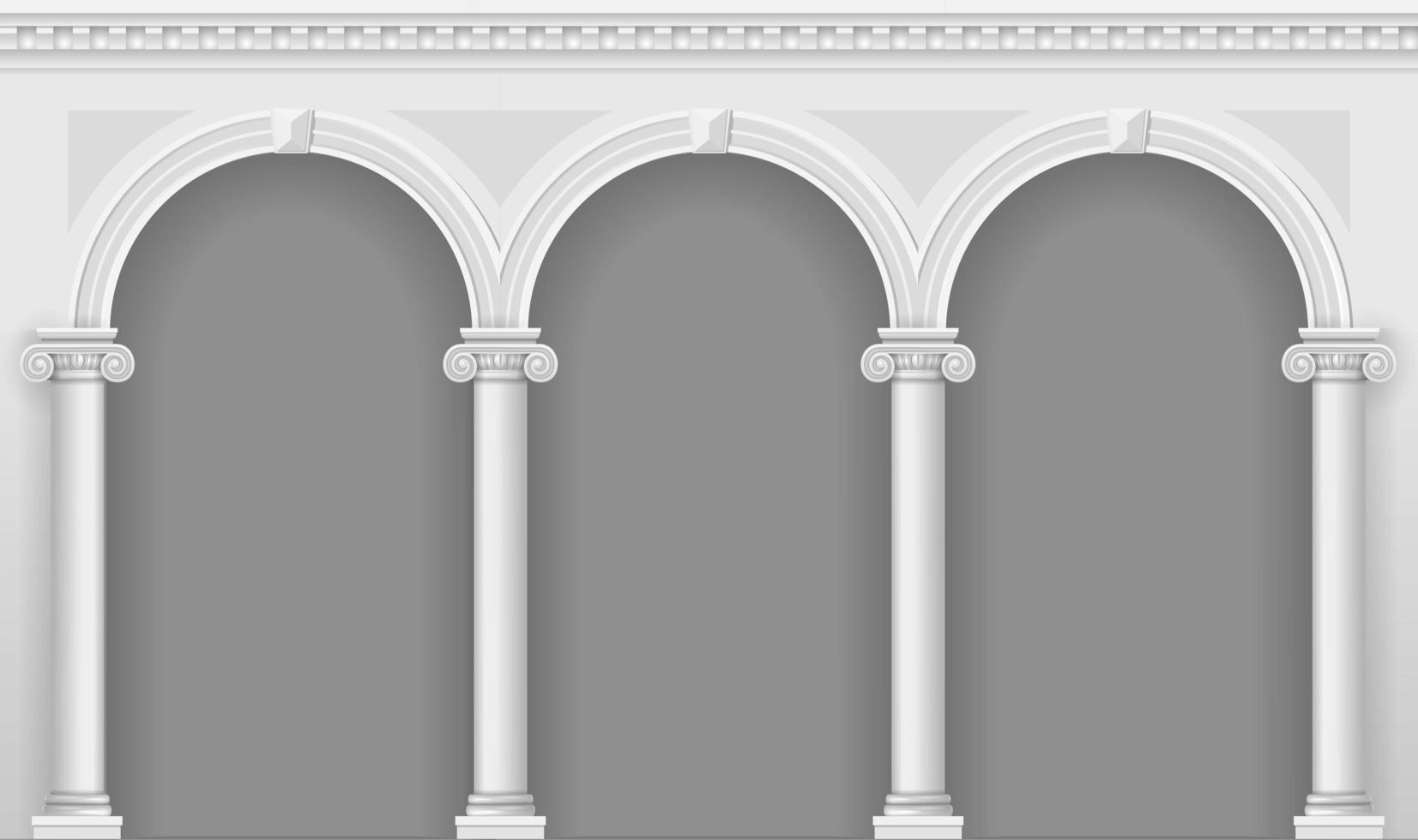 antike weiße Arkade vektor