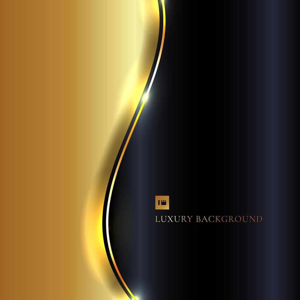 glänsande guld våg på marin bakgrund vektor