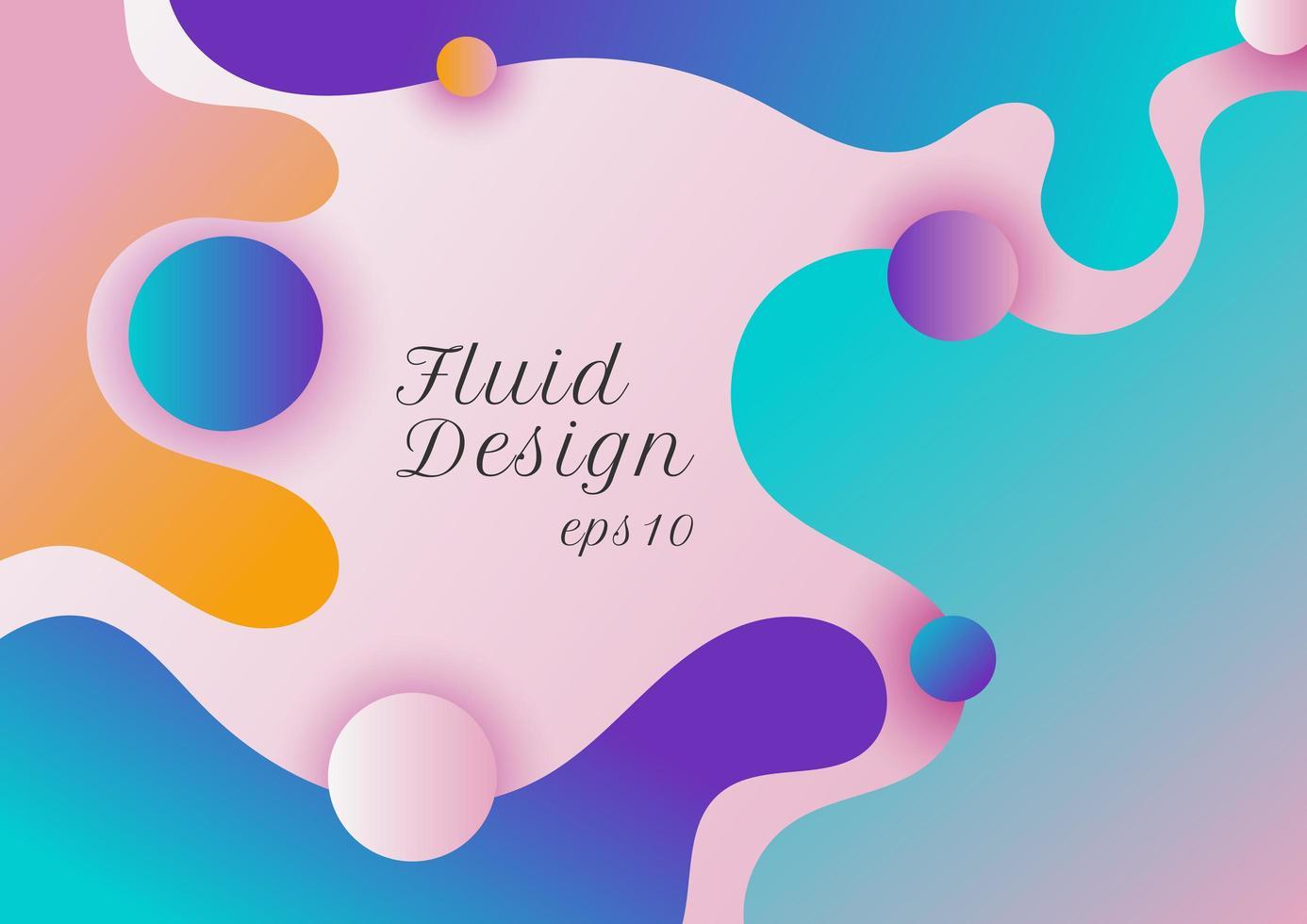 abstrakt modern vätska eller flytande form gradient färgbakgrund vektor