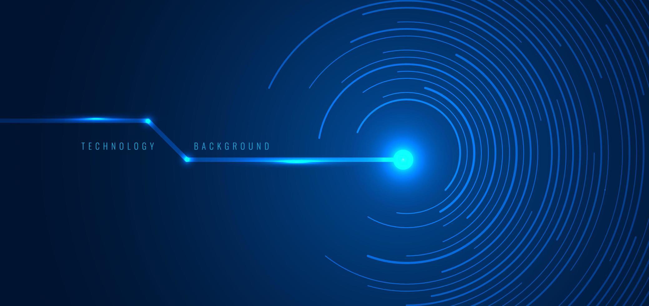 futuristisches Konzept der abstrakten Technologie blaue Kreislinien vektor