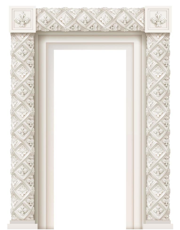 klassiska detaljerade arkitektoniska fönster vektor