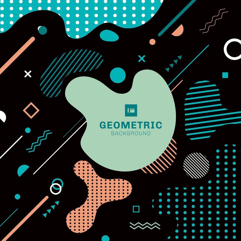 abstrakte kreative trendige Farbspritzer mit geometrischen Linienformen vektor