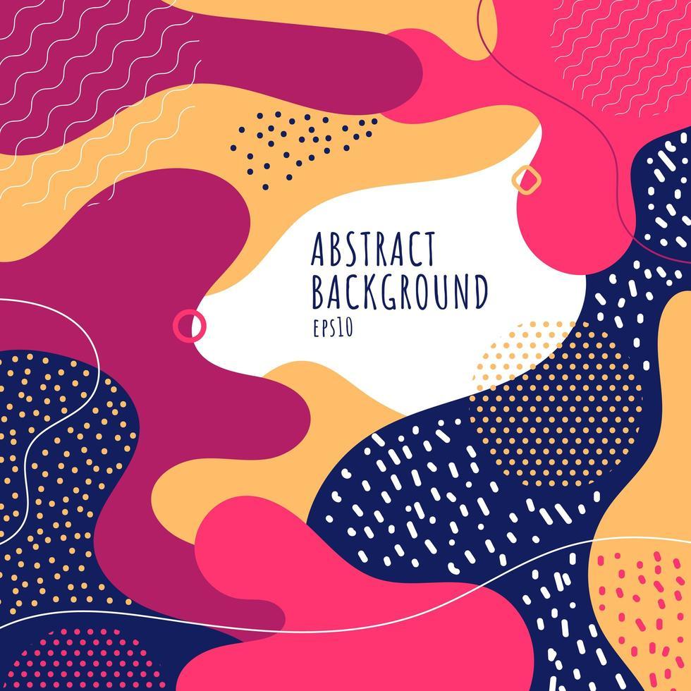 abstrakter Farbspritzer Kinderspielplatzhintergrund vektor