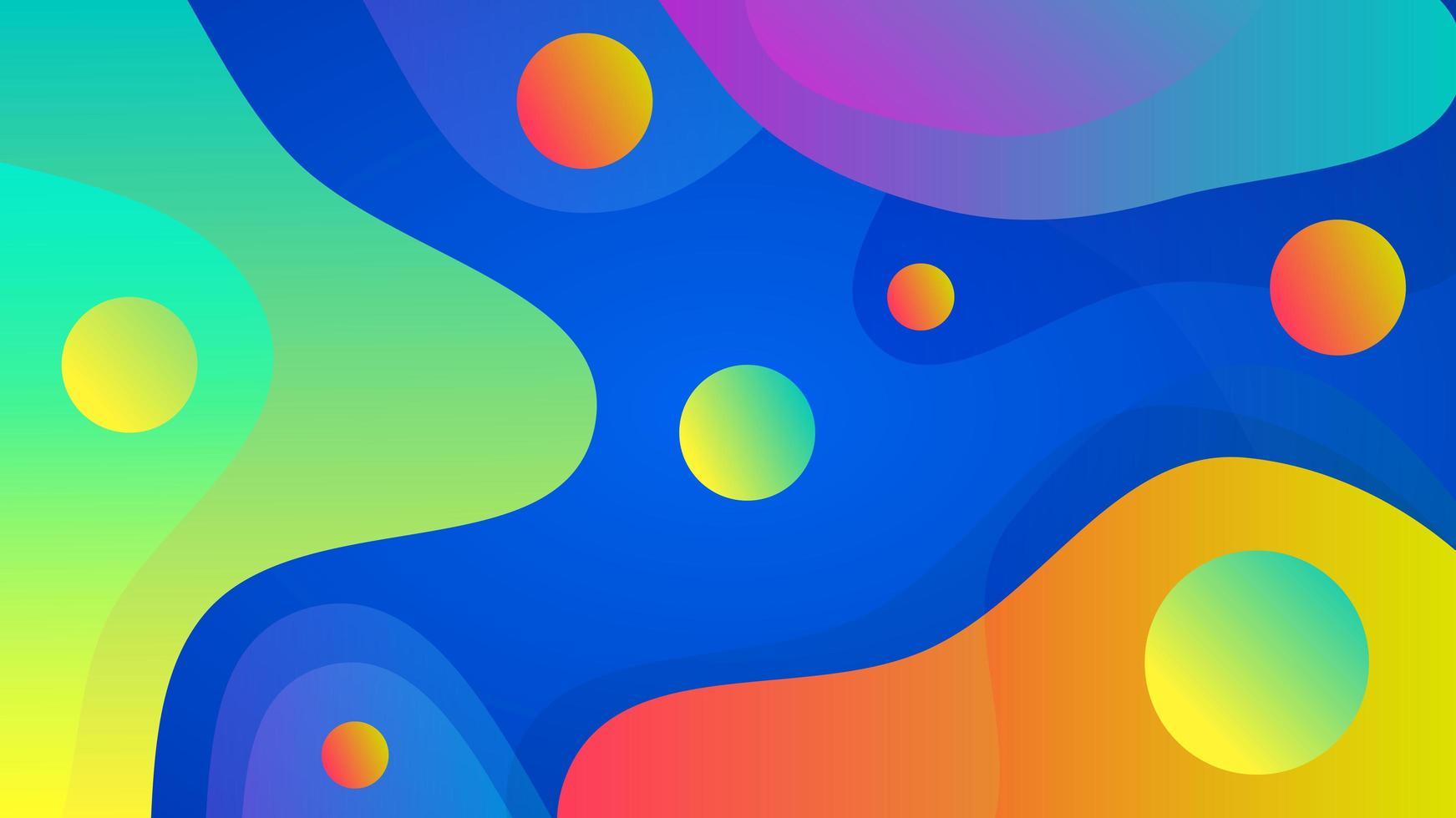 dynamische Farbverlaufszusammensetzung vektor