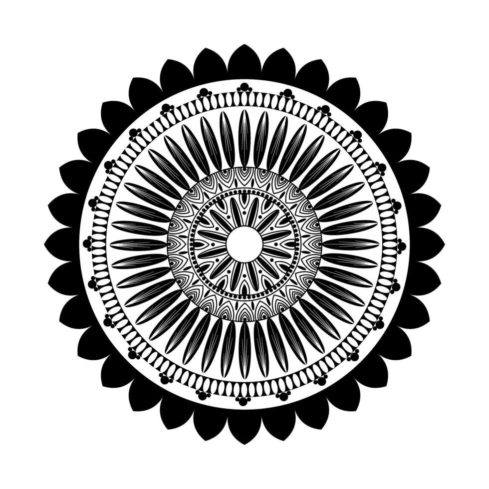 schwarzes Blumenmandala vektor