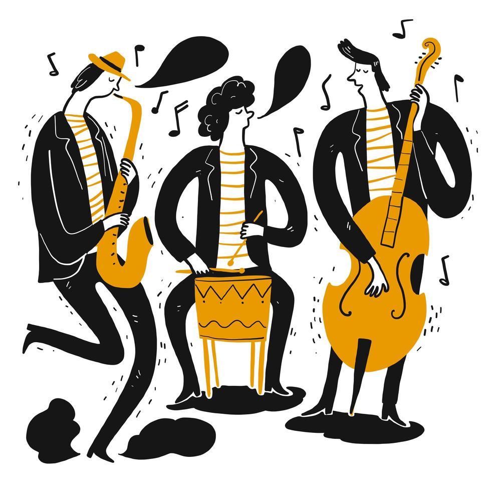 musiker som spelar musik vektor