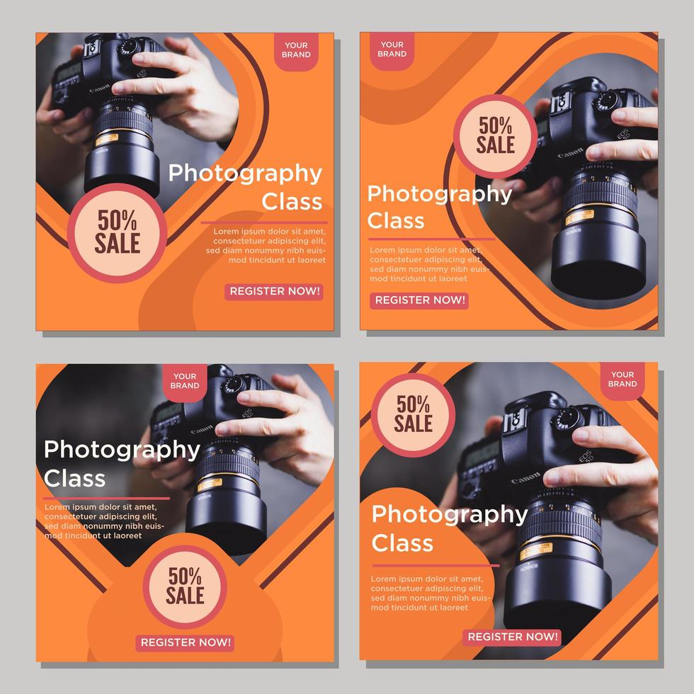 Orange gerundete Diamant Social Media Post Sale Vorlagen vektor