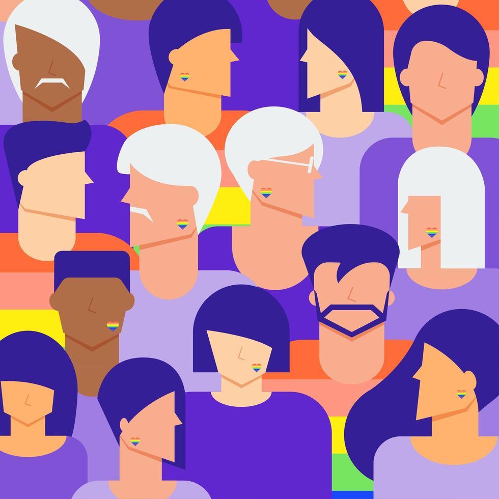 Vielfalt lgbtq Menschen Hintergrund vektor
