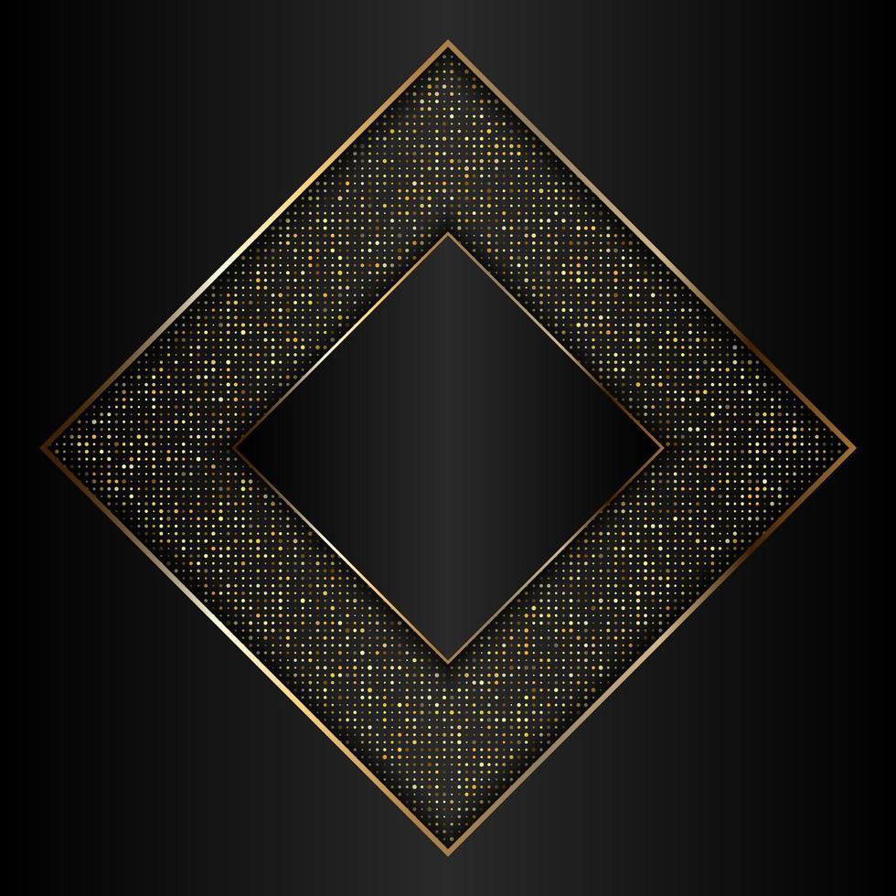 dekoratives Design aus Gold und schwarzen Diamanten vektor