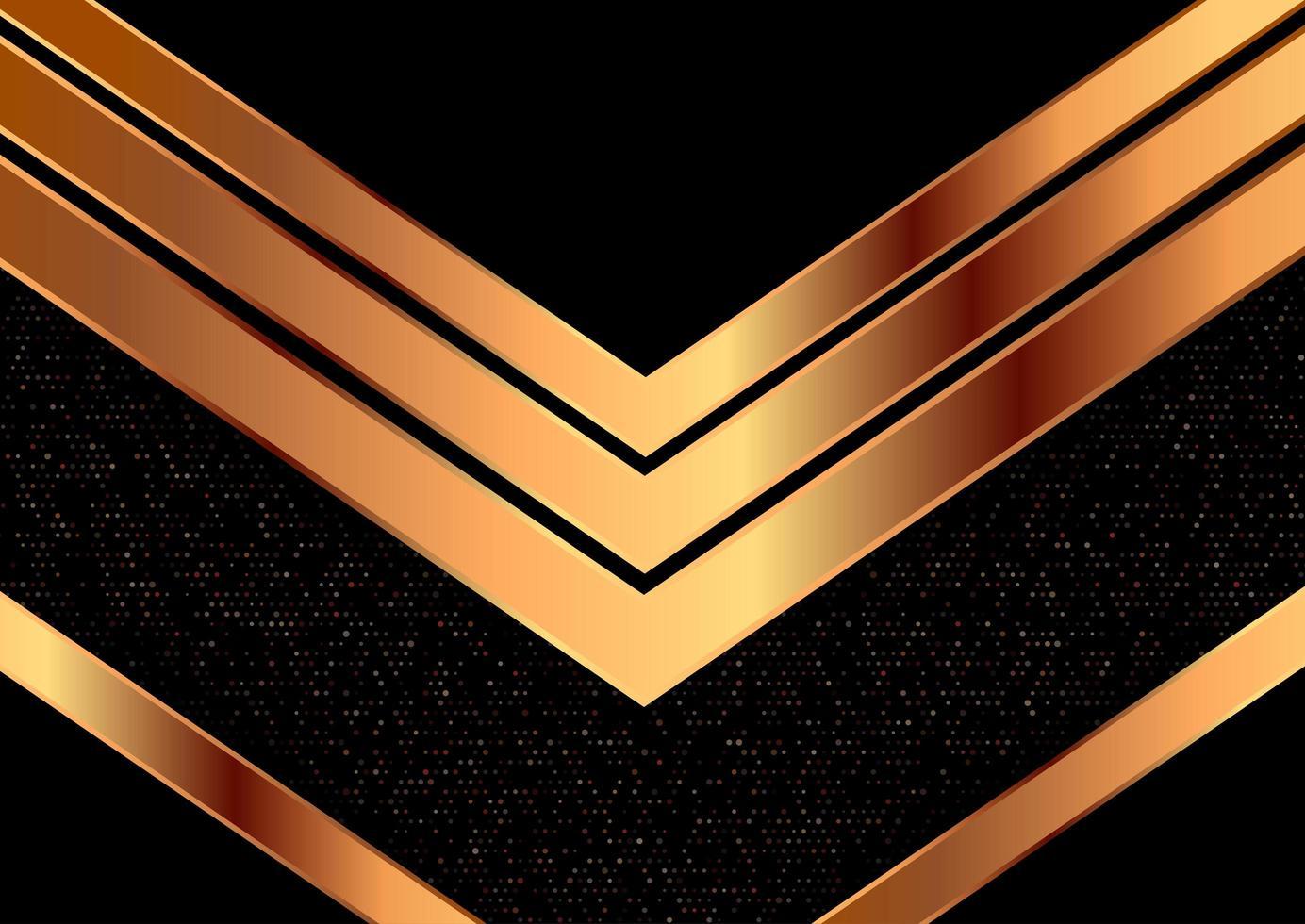 dekorativ gyllene pil metallisk design vektor