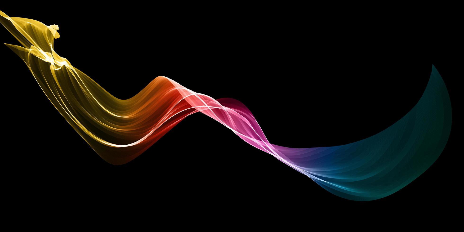 Regenbogen fließende Linien Design vektor