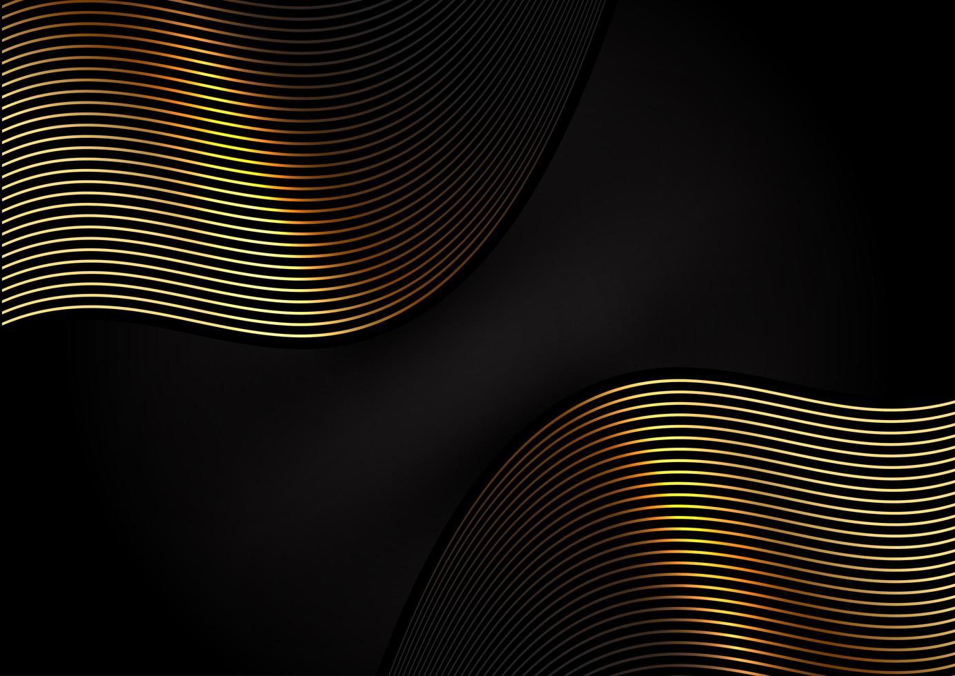 elegantes fließendes Goldliniendesign vektor