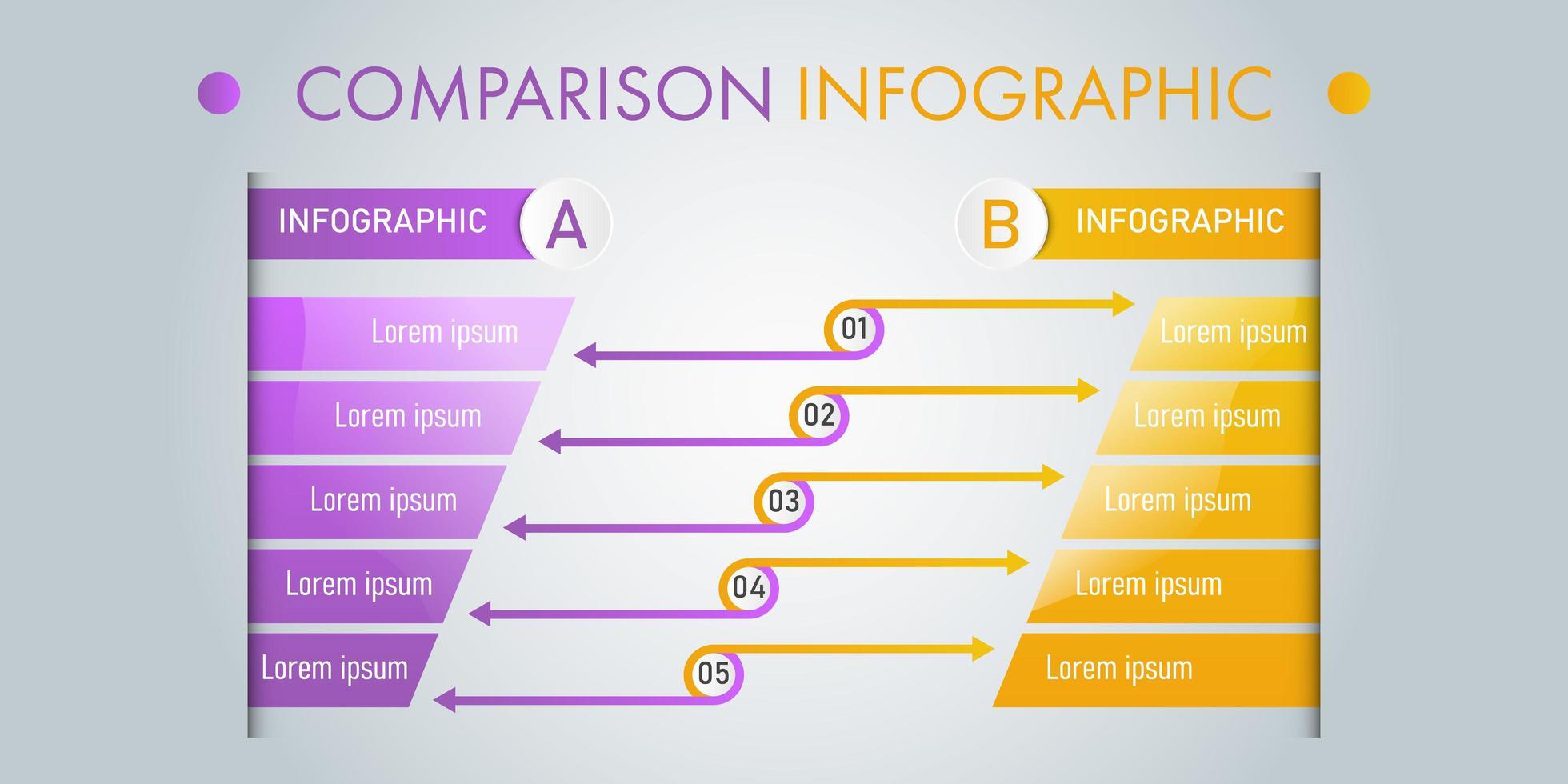 Vergleich Infografik Vorlage vektor