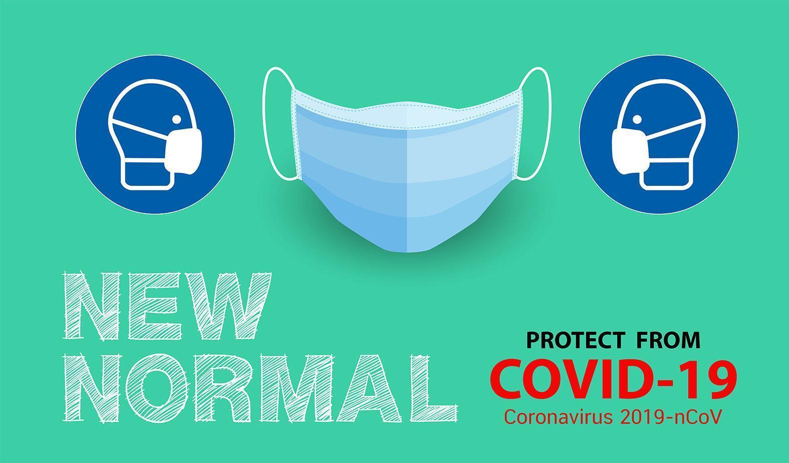 neue Normalität, Schutz vor Krankheitsplakat vektor
