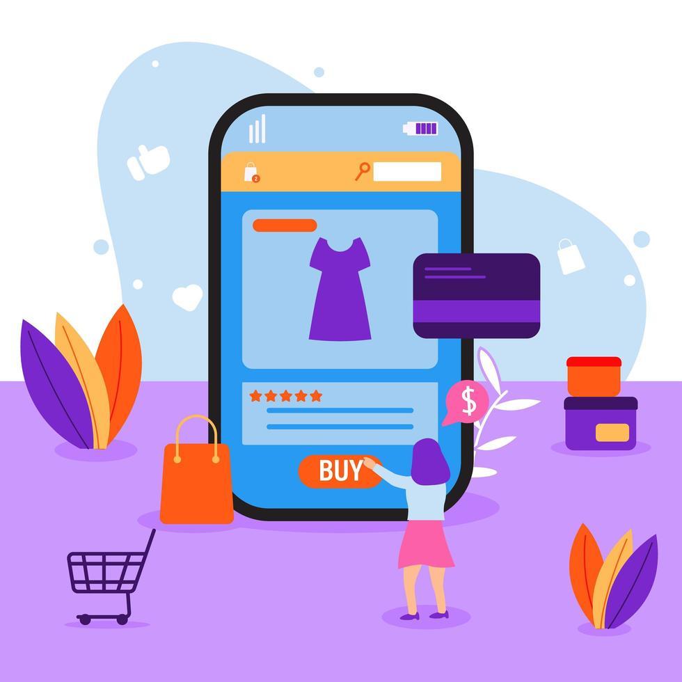 Online-Retail-Technologiekonzept vektor