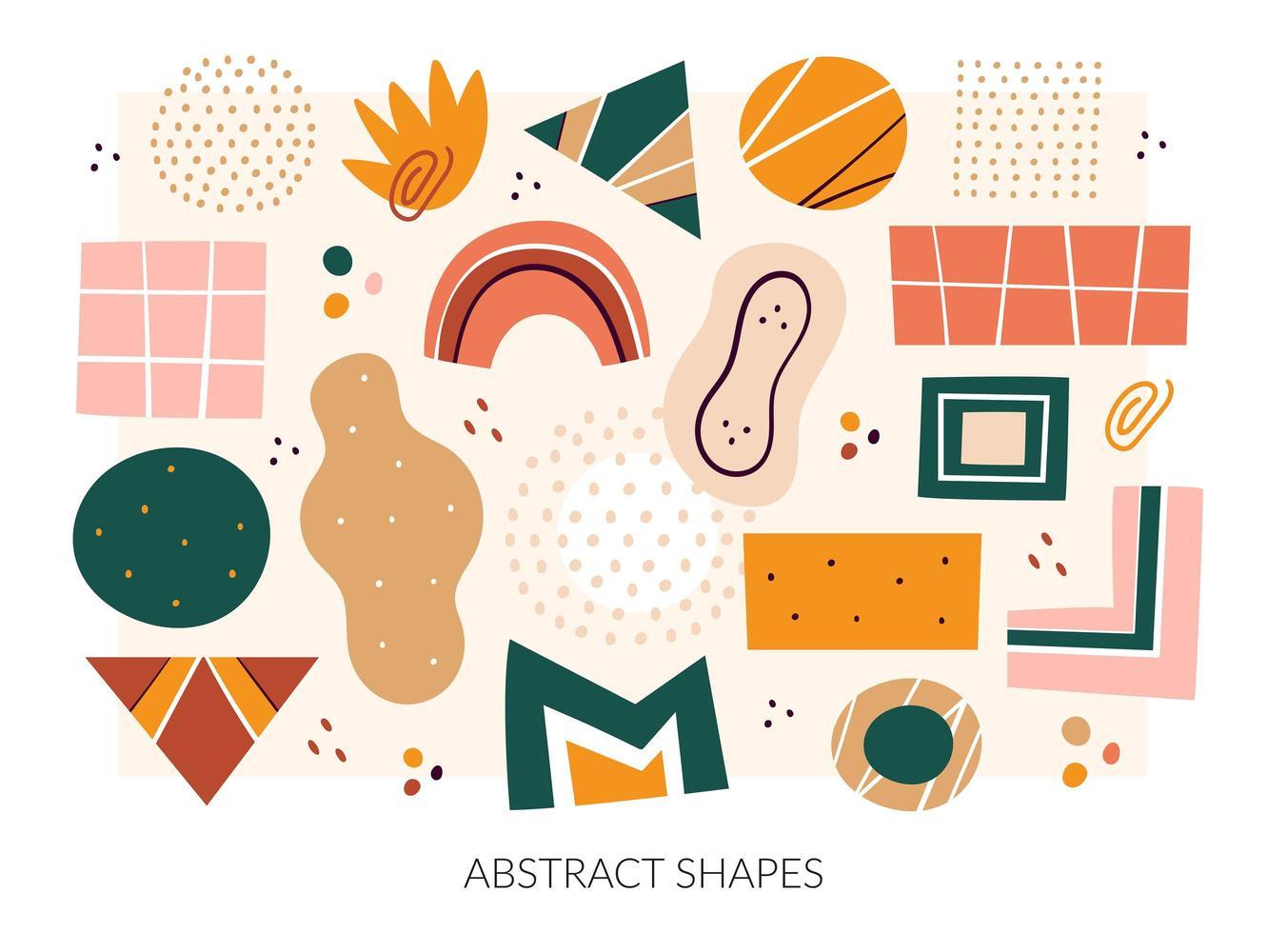 abstrakta former, figurer uppsättning vektor