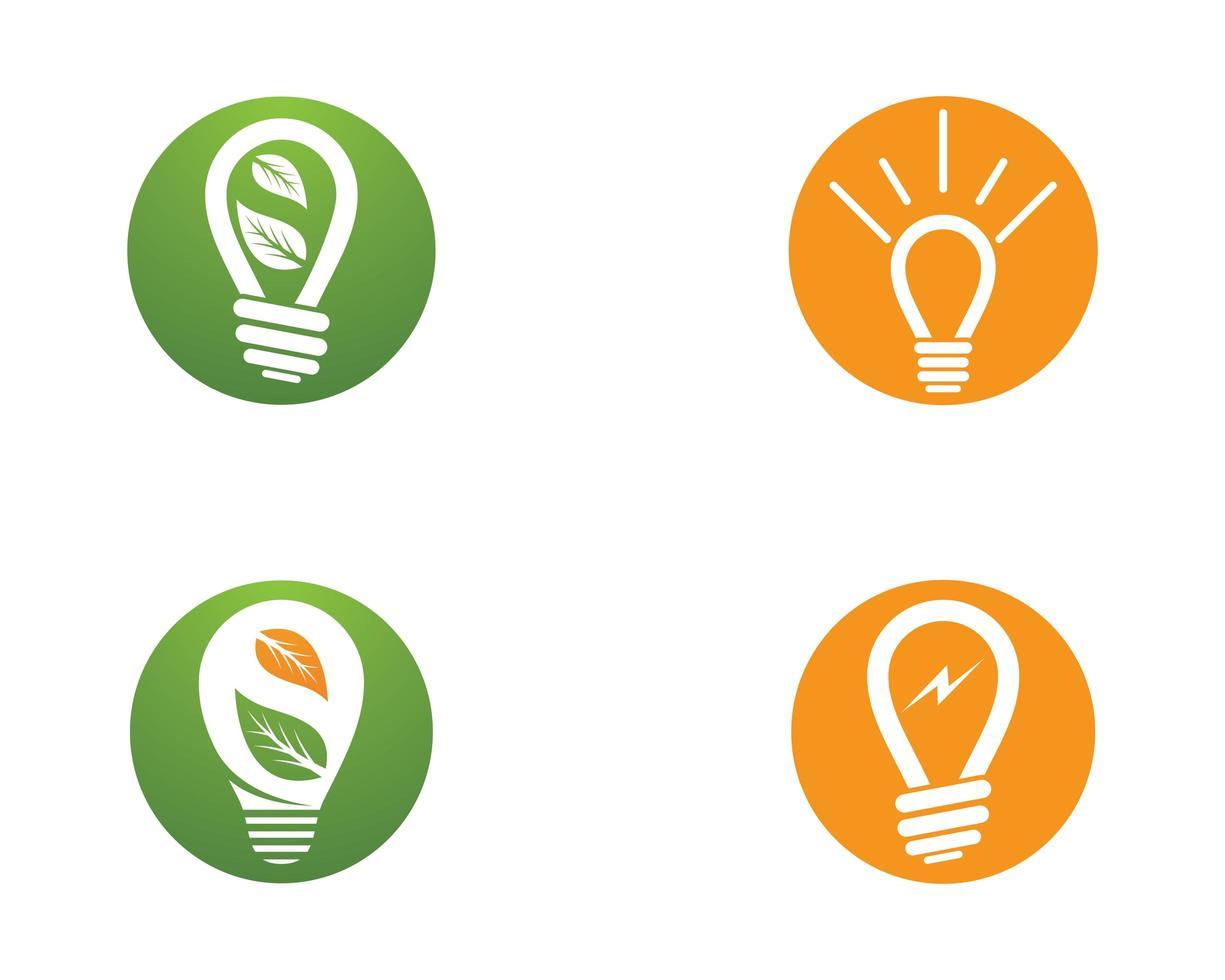 Glühbirne Vektor Symbol Illustration Design