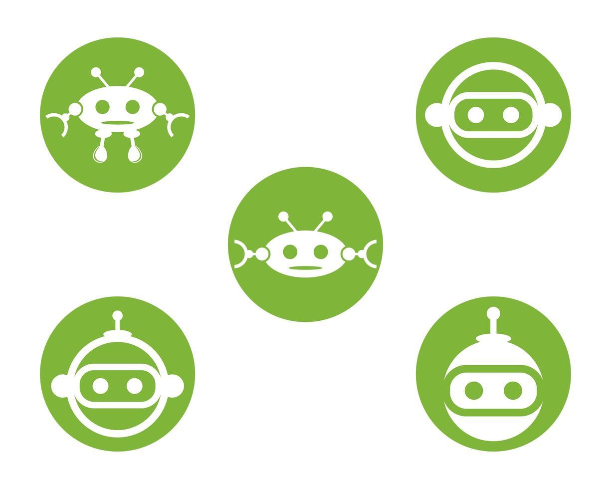 Roboter-Symbol-Set-Design vektor