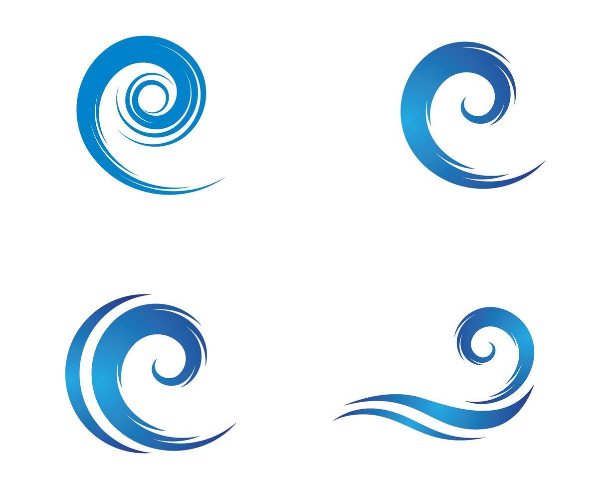 Wellensymbolvektorikonenillustrationsentwurf vektor