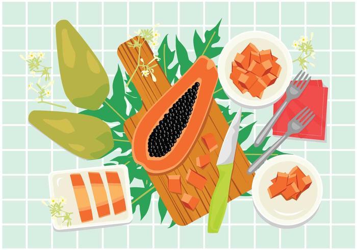 Gratis Papaya Illustration vektor