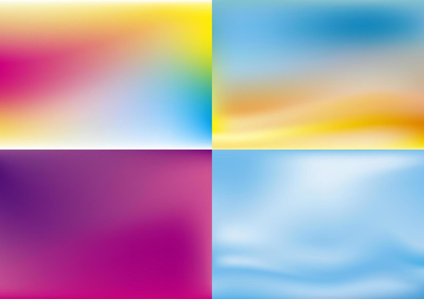 abstraktes Farbdesign-Set vektor