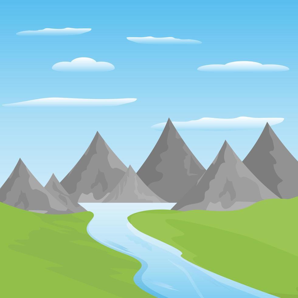 Berg- und Grünlandschaft vektor