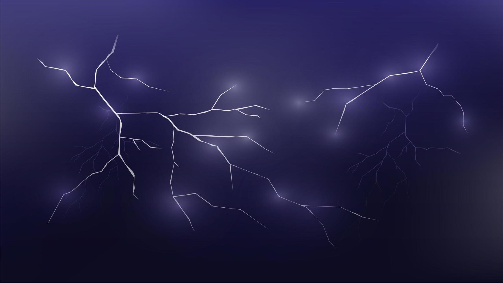blixt i molnen vektor