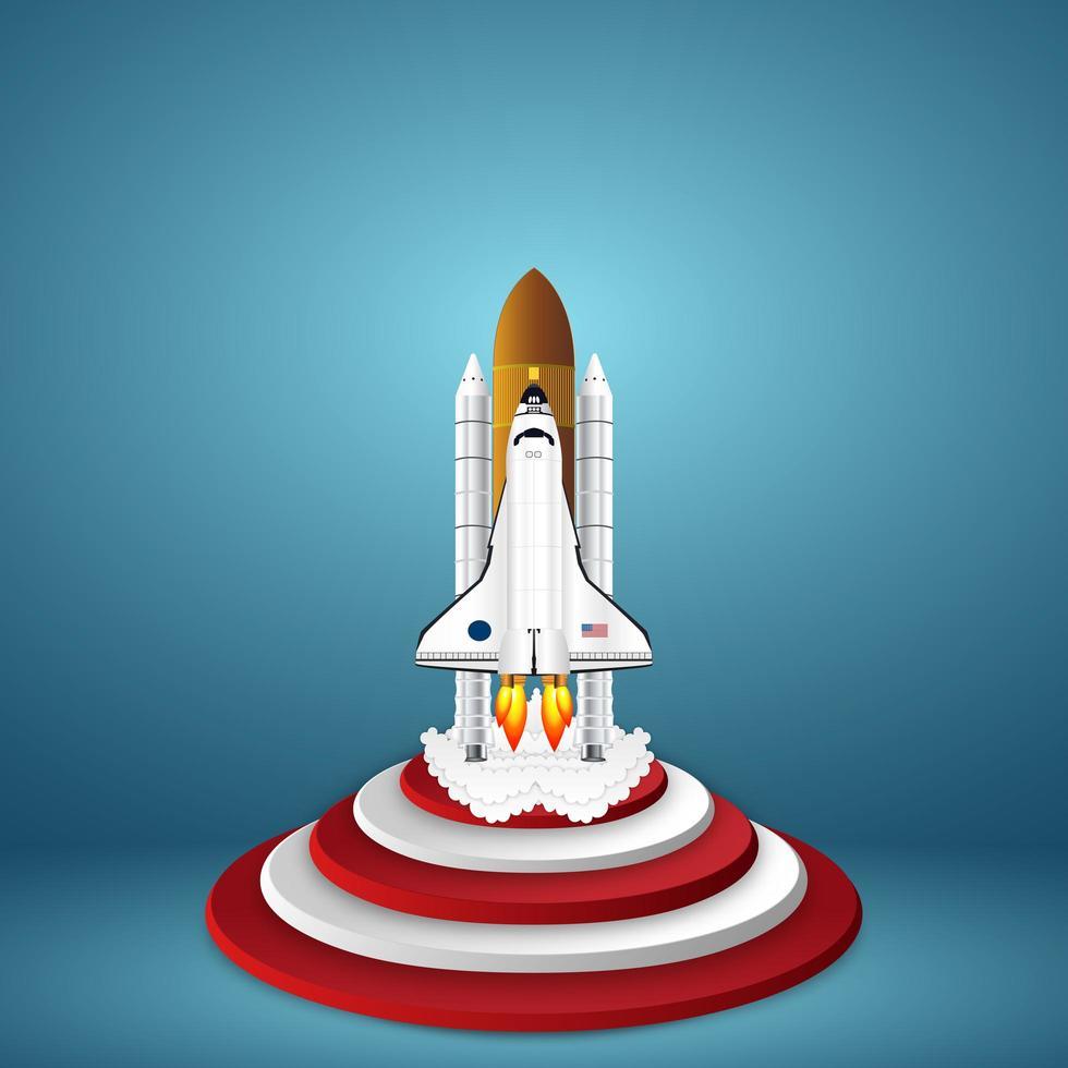 raket lansering av papper som startande affärsidé vektor