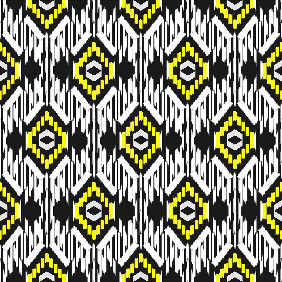 retro ikat sömlösa mönster vektor