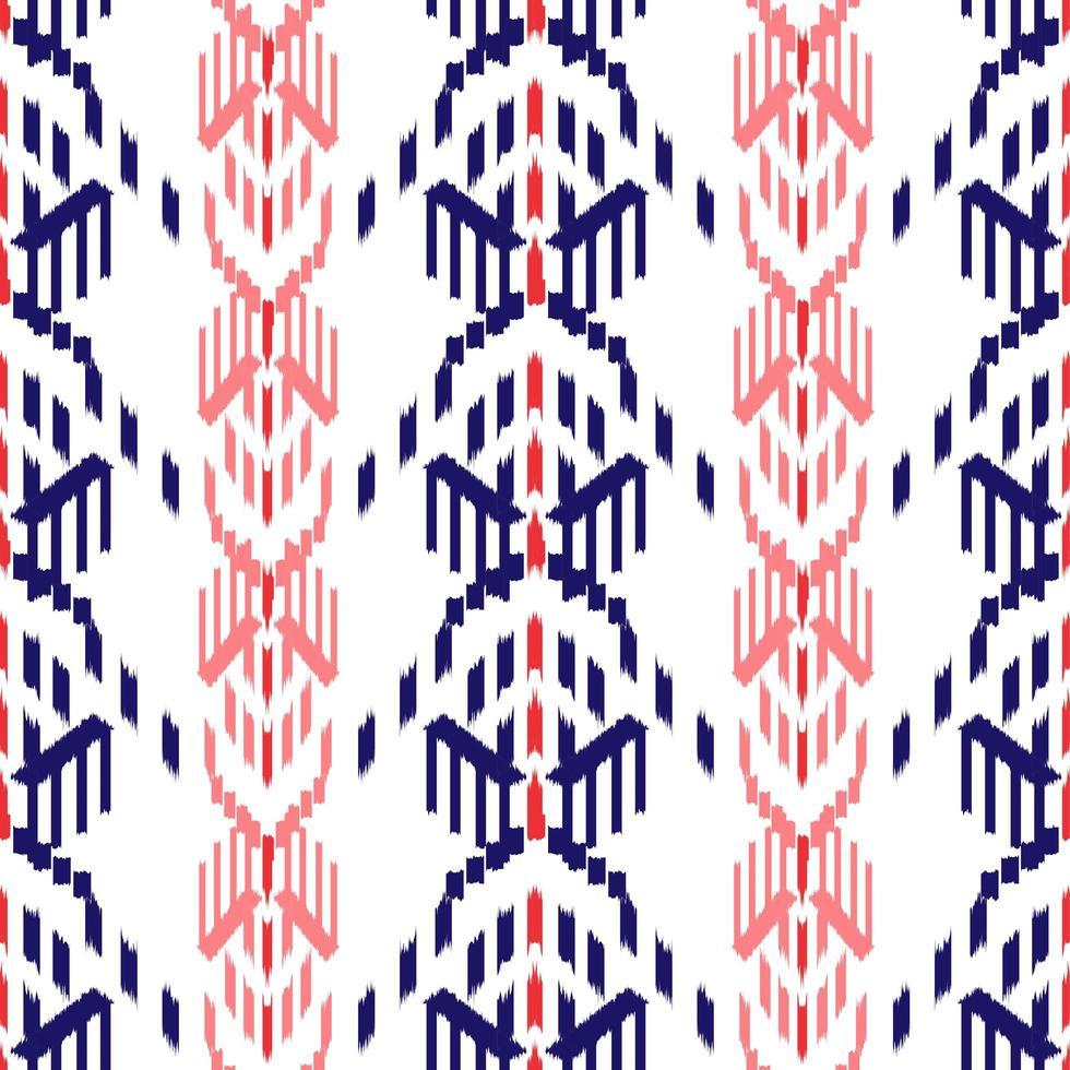 röda och blå ikat sömlösa mönster vektor