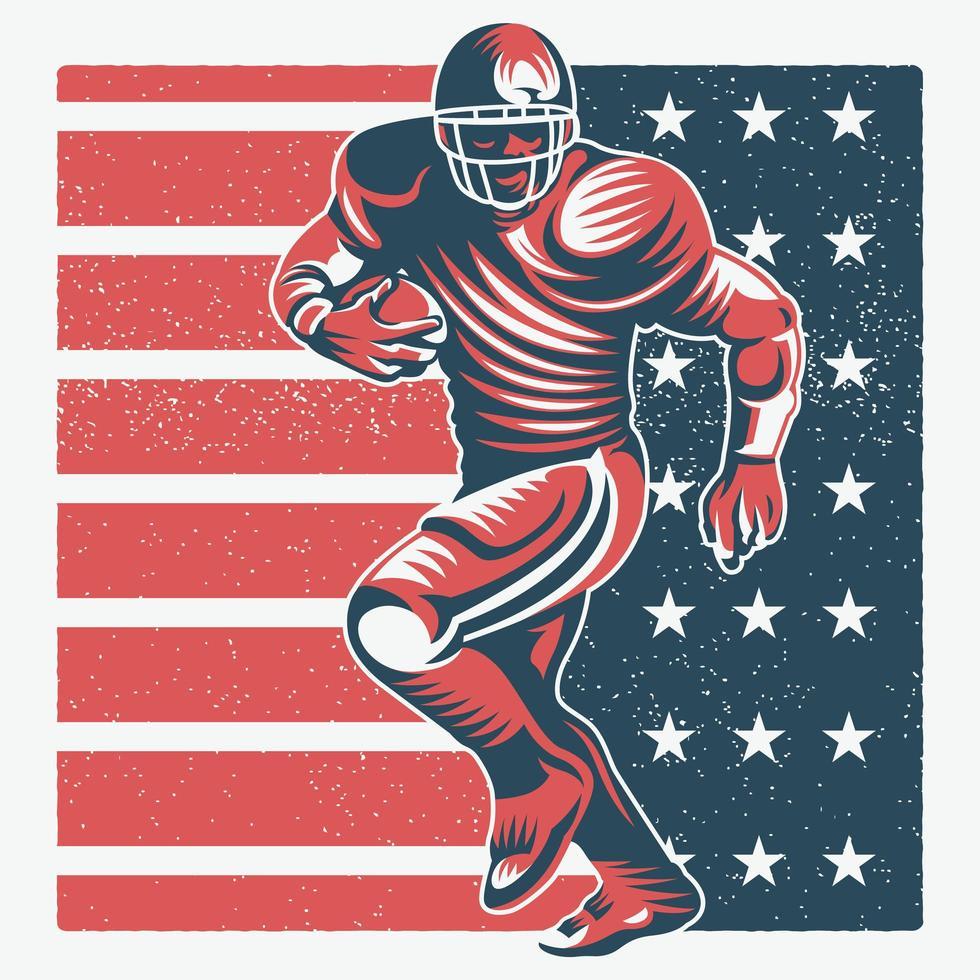 Retro American Football Spieler vektor