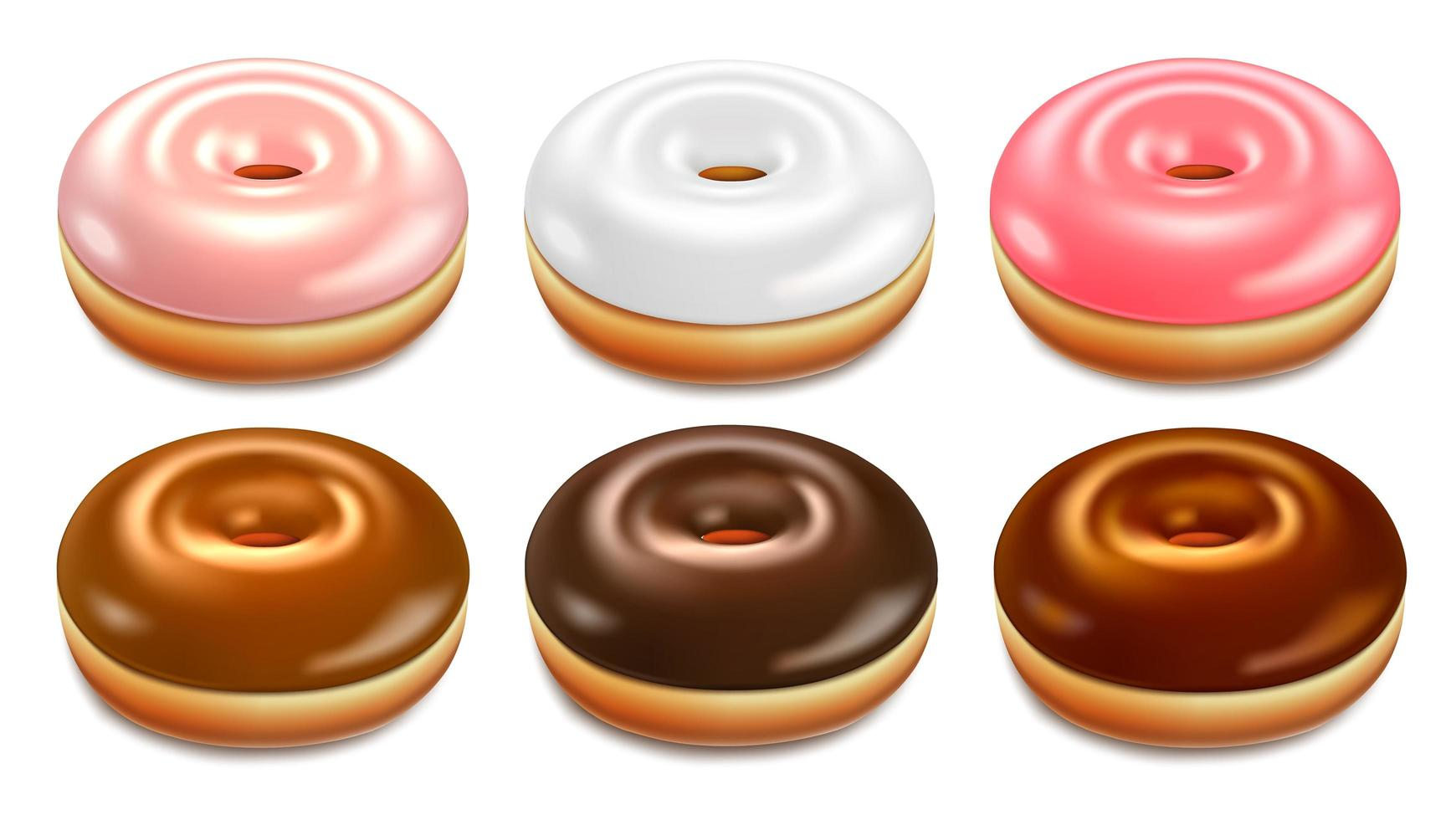rosa, vita, bruna munkar set vektor