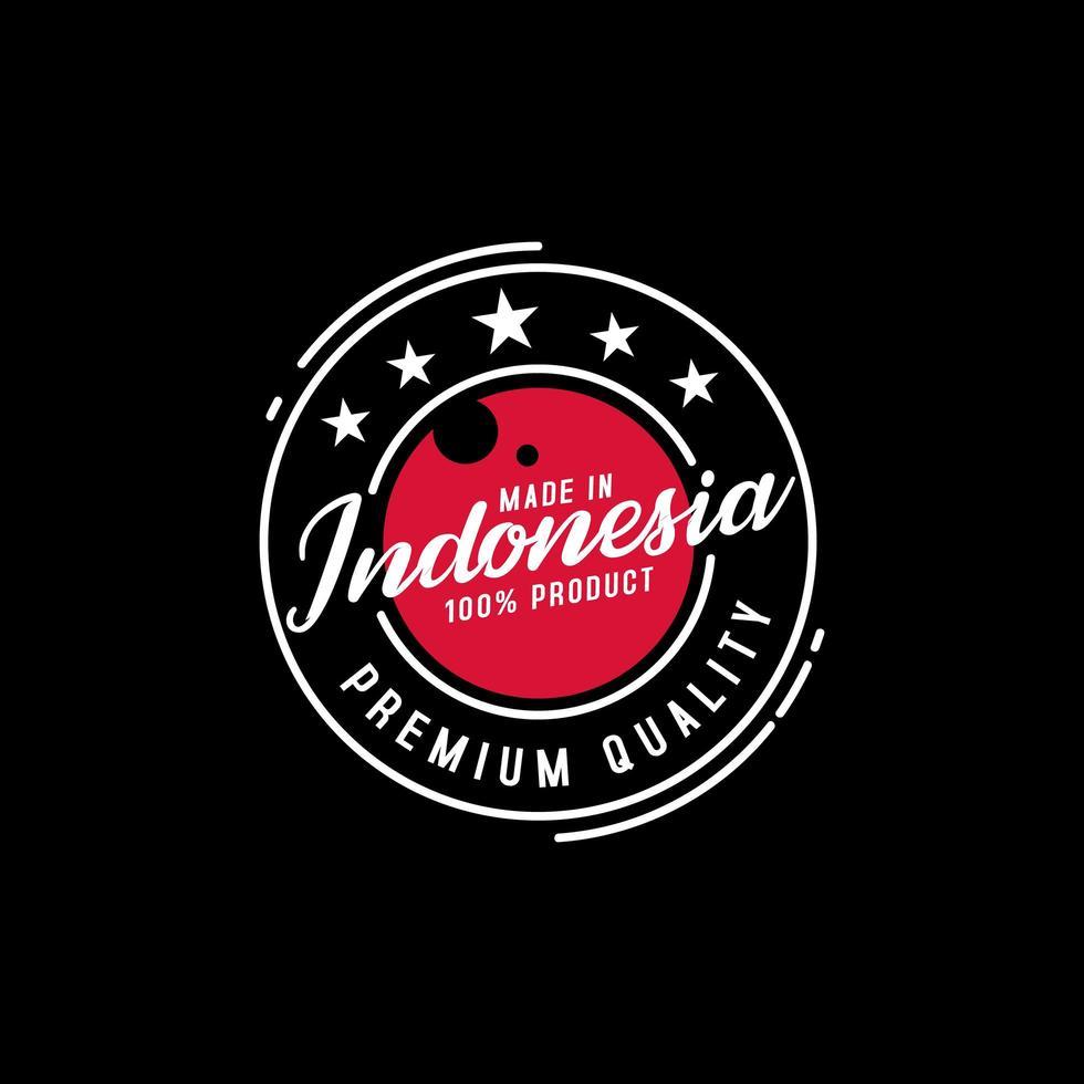 tillverkad i Indonesiens kvalitetsstämpel vektor