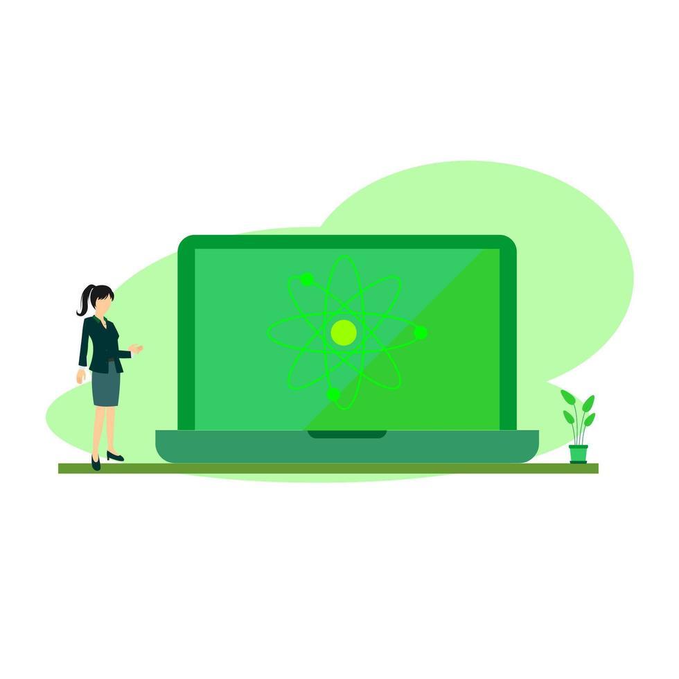 online vetenskap klass vektor