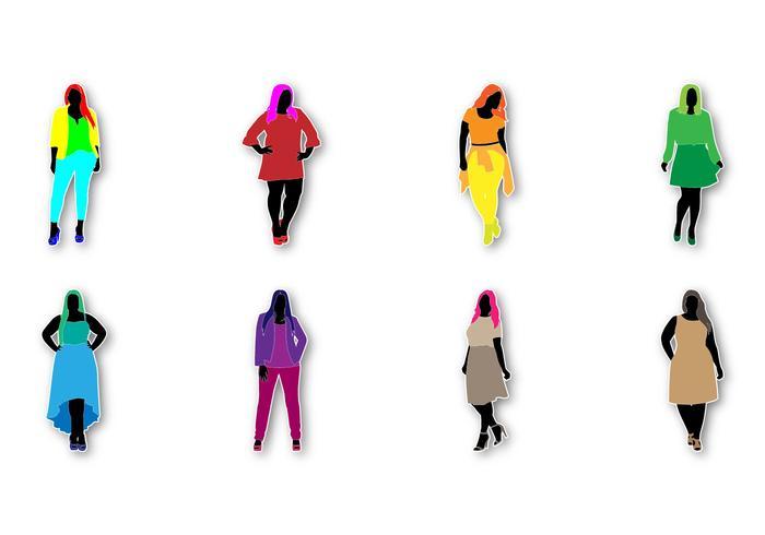 Free Fat Frauen Mode Vektor